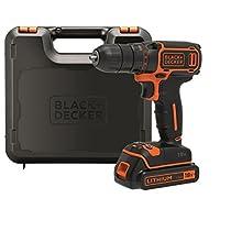 BLACK+DECKER BDCDC18K-QW Trapano Avvitatore, 18 V, al Litio, 1.5 Ah, Valigetta, Arancione
