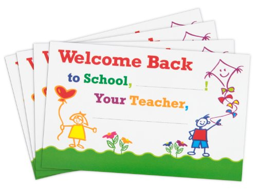 Teacher Peach Positive Postcards, 50 Cards, Motivational Notes from Teachers to Students (Welcome Back to School)