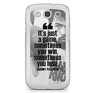 Manny Pacquiao Samsung Galaxy S3 Transparent Edge Case - Design 1