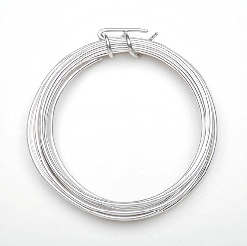 Aluminum Jewelry Wire - 12 Gauge - Silver - 3 yards