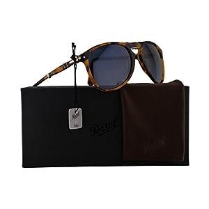 Persol PO9714S Sunglasses Madreterra w/Polarized Blue Gradient Lens 55mm 1052S3 PO9714-S 9714S PO 9714-S