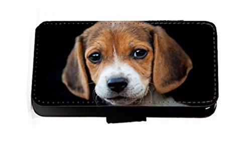 Beagle chiot pour chien en imitation cuir portefeuille Housse Coque Étui pour téléphone portable iPhone 45C 6S Samsung S6S5S4S3Mini, Cuir synthétique, iPhone 6/6s