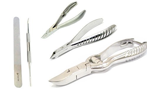 BeautyTrack Ingrown Chiropody Toenail Clipper Nipper Podiatrist Podiatry Kit Top Quality Instruments by BeautyTrack