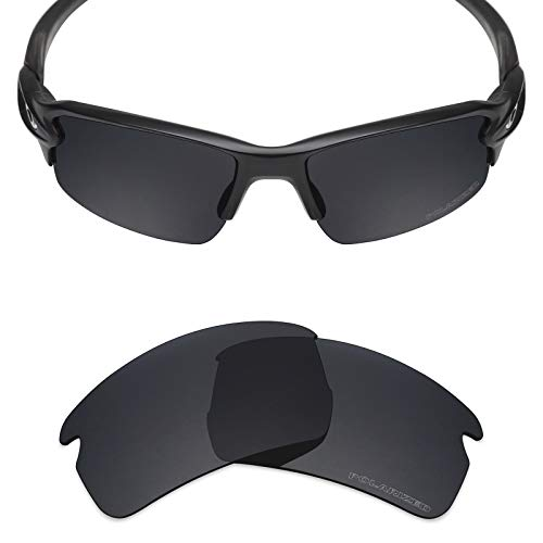 - Mryok+ Polarized Replacement Lenses for Oakley Flak 2.0 Asian Fit - Stealth Black