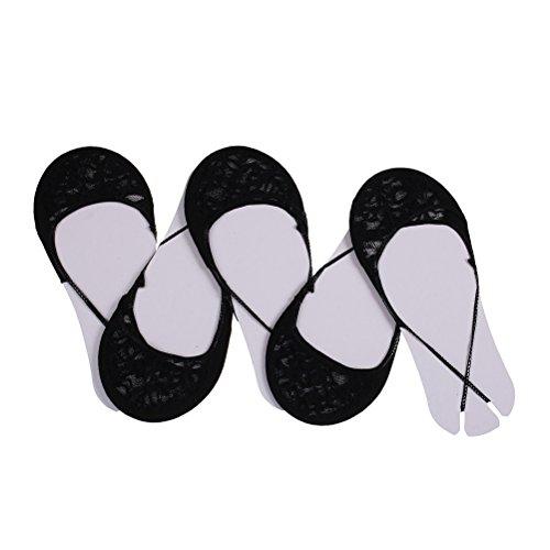 Ensunpal 5 Pairs Women Low Cut Socks No Show Half Socks with Sling Back Liners Cotton Heelless Socks,Black (Flats Slings Shoes)