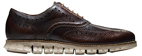 Cole Haan Hommes Zerogrand Aile Oxford Récolte Brun Brushoff Cuir