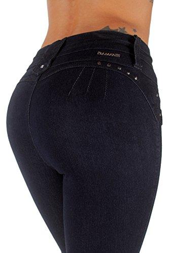 K540P- Plus Size, Butt Lifting, Levanta Cola, High Waist, Skinny Jeans in Indigo Size 18