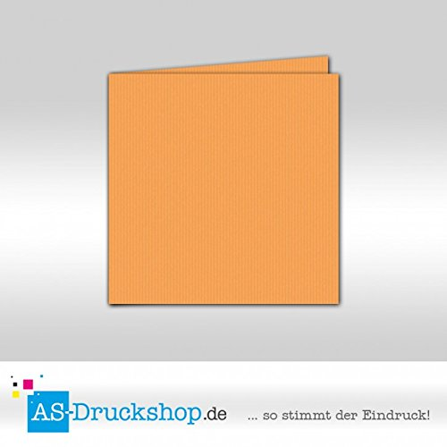Faltkarte Doppelkarte - Mango 50 Stück Quadratisch 155 x 155 mm B079529ZZ3 | Sonderangebot