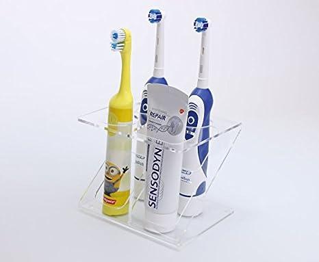 Soporte para 3 cepillos de dientes eléctricos, disponible en varios colores: Amazon.es: Hogar