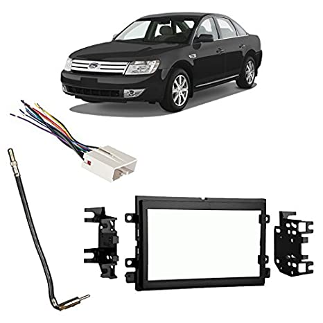 Amazon.com: Fits Ford Taurus/Taurus X 2008-2009 Double DIN Harness on 1996 ford taurus radio wiring harness, 2006 pontiac grand prix radio wiring harness, 2000 ford taurus radio wiring harness,
