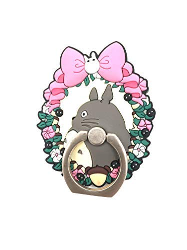 (CellDesigns Cartoon Cell Phone Ring Grip Stand Holder Car Mounts Souvenir Collection (Totoro in Wreath))
