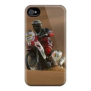 Iphone 4/4s Hard Back With Bumper Silicone Gel Tpu Case Cover Joan Barreda Bort Sports by icecream design