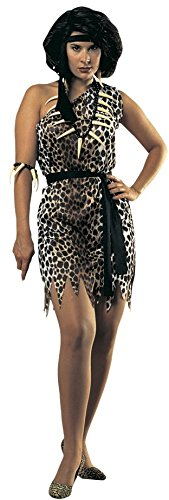 Rubie's Costume Women's Cavewoman Adult Fuller Cut Value Costume, Multi, One Size