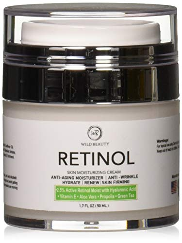 NEW 2018 Retinol Moisturizer Cream for Face and Eye Area with...