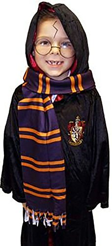 Pantomime Characters Costumes (World Book Day-Character-Harry-Wizard SCHOOL SCARF Fancy Dress Accessory)