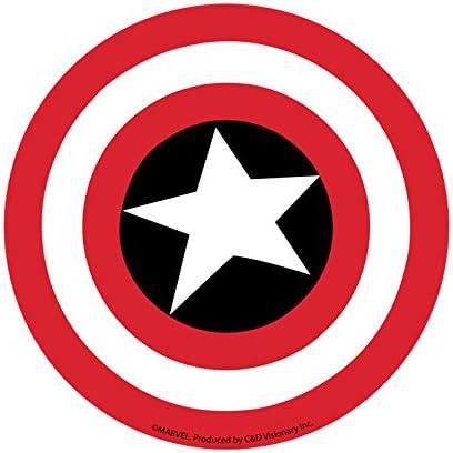 Marvel Comics Retro Captain America Shield Sticker