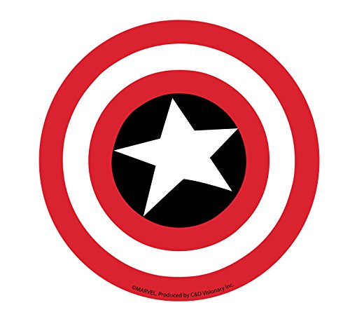 CAPTAIN CAPITÁ N AMERICA SHIELD STICKER, Officially Licensed Marvel's The Avengers Comic Superhero Artwork ilustraciones, 4' x 4' - Long Lasting Die-Cut Vinyl Sticker DECAL 4 x 4 - Long Lasting Die-Cut Vinyl Sticker DECAL S-MVL-0002