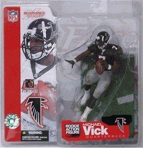 Michael Vick #7 Atlanta Falcons McFarlane NFL Series 4 Rookie Action Figure Debut Black Jersey Variant Chase Alternate Six Inch Action Figure