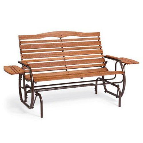 Post Glider (Jack Post CG-12Z Country Garden Double Glider with Trays, Bronze)