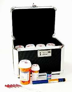 "Vaultz Combination Locking Medication Safe Box (External Dimensions: 7.75"" H x 10.0"" W x 7.25"" D)"