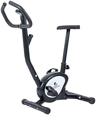 TechFit BB370 Bicicleta de Ejercicios Fitness, Resistencia de Cinturón Ajustable, 90 x 40 x 100 cm, Adecuada para Bajar de Peso, Tonificación Corporal, Cardio, Entrenamiento, Uso Doméstico, Gris: Amazon.es: Deportes y aire libre