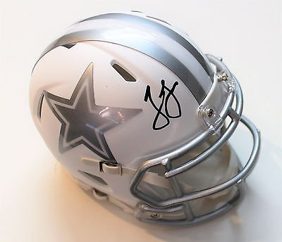 Jason Garrett Signed Dallas Cowboys Mini Football Helmet w/COA ICE 2107