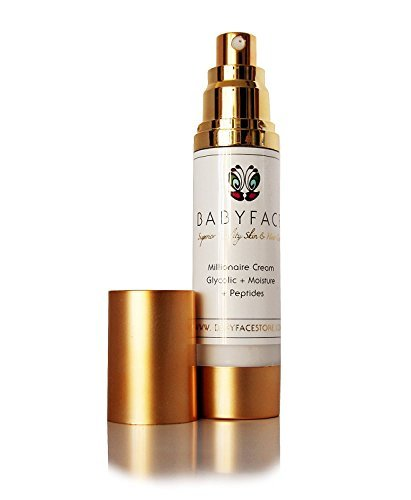 Cheap Babyface MILLIONAIRE CREAM Powerful 10% Glycolic Acid Anti-Aging Daytime Moisturizer – 2 Weeks To Smoother Skin – AHA, CoQ10, Tamanu Oil, Vitamin C (1.8 oz. Regular Size, Pump Bottle)