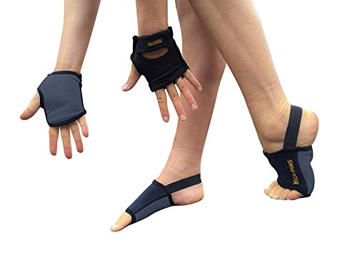 Yoga Paws Skin Thin - Non-Slip Grip Toeless Socks & Fingerless Gloves - Engineered Fit - Best Yoga Mats For Hands & Feet - Unmatched Performance - Yoga, Pilates, Fitness - Unisex Design 4 Men & Women