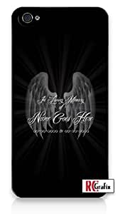 Custom DIY In Loving Memory Of Personalized Memorial with Black Background iPhone 5C Quality Hard Snap On Case for iPhone 5C - AT&T Sprint Verizon - White Case