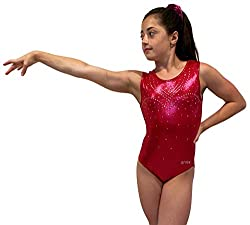 Cherry Gymnastics Leotards With Rhinestones for Girls