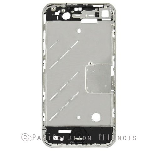 ePartSolution-OEM iPhone 4S Mid Cover Chassis Metal Frame Chrome Bezel Replacement Part USA Seller