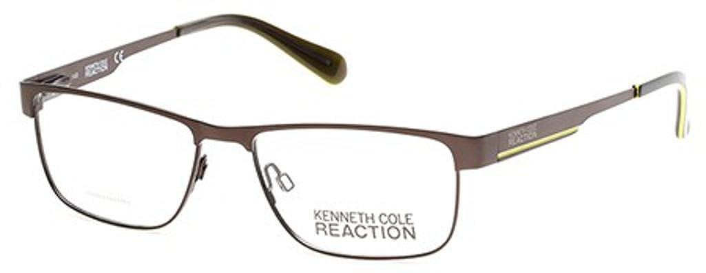 0bcd8750f1 Eyeglasses Kenneth Cole Reaction KC 779 KC0779 009 matte gunmetal at Amazon  Men s Clothing store