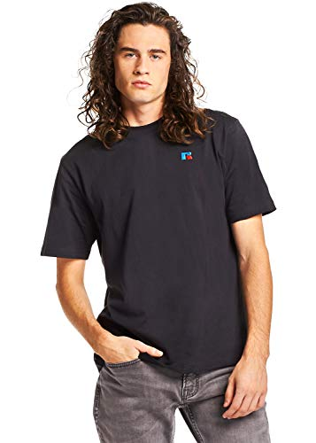 (Russell Athletic Heritage Men's Baseliner Heavyweight Cotton T-Shirt, Black, M)