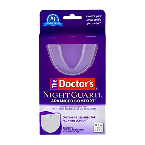 The Doctor's Advanced Comfort NightGuard for Dental Protector for Nighttime Teeth Grinding-Contains 1 Dental Guard and Case