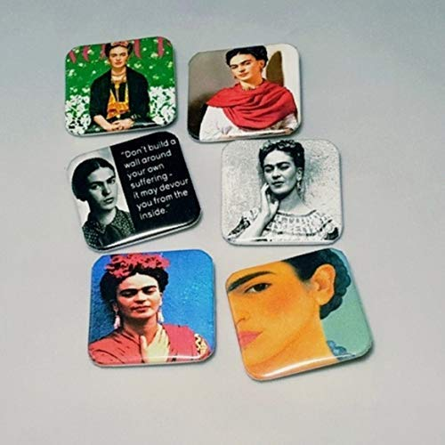 (Frida Kahlo Pinback Buttons Quotes Latina Gifts Pictures Quotes Badge Mexican Quinceañera Jacket Tote Bag Artist 1.5
