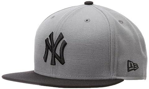 MLB New York Yankees MLB Basic Stm/Gry 59Fifty, STORM GRAY/BLACK, 7 1/2 - New York Yankees Fabric