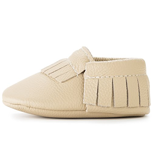 BirdRock Baby Moccasins - 30+ Styles for Boys & Girls! Every Pair Feeds a Child (US 2, Latte) -