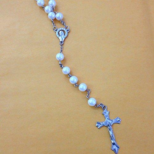 [해외]12 X 세례, 결혼, 종교적인 호의 및 선물 부대의 선택을 % s X 대량 도매 묵주 긴 가짜 진주 묵주 사슬 세례 찬성/12 X Wholesale Bulk Rosary Long Faux Pearl Rosary Ch