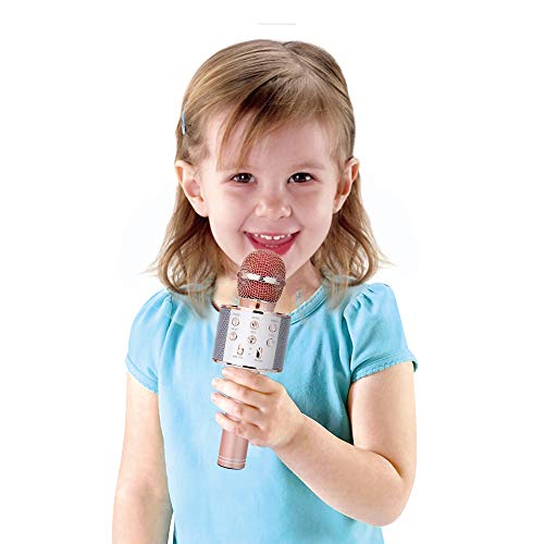 Karaoke Microphone for Kids, Birhday Gifts for 4-12 Year Old Girls Kids Singing Karaoke Microphone for Kid Toy Age 5-10 Girl Kids Music Gift for Kid Girls Bule Mic by KIMMI (Image #4)