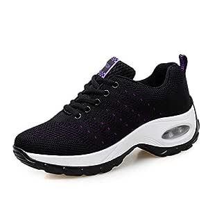 SKLT Women Sneakers Mesh Running Shoes Ladies Walking Dancing Sport Shoes Outdoor Air Cushion Breathable Footwear Lace