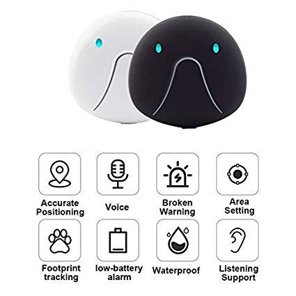 FAY Pet Tracker & Activity Monitor,Pet Monitoring,Waterproof Locator, Anti-Lost Pet Collar,for Dogs and Cats-Support iOS/Android,Black