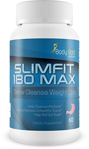 Slimfit 180 Max - Detox Cleanse Weight Loss - Help Clear Your Body of Bloating toxins - One of The Fastest Ways to Appear thinner is to Clear Excess gunk from Your Gut - Detox Your Body Today ()