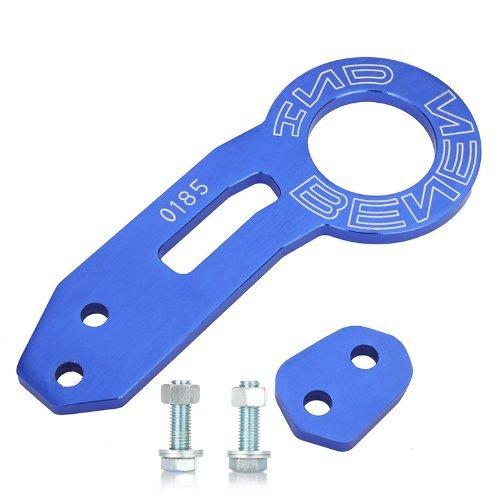 yunanwa Rear Tow Towing Hook for Universal Car Auto Trailer Ring Aluminum Alloy (Blue)