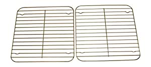 Nickannys Square Non-stick Wire Cooling Racks for Baking-10x10 Chrome Plated-Kitchen Trivets (2 pack)