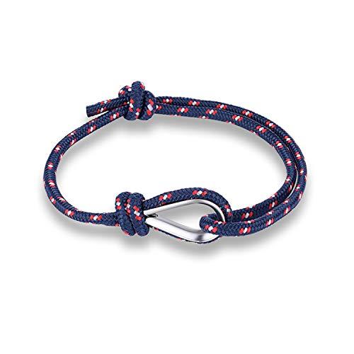 Sport Camping Parachute Navy Blue Cord Men Women Bracelet Summer Style,Darkblue ()