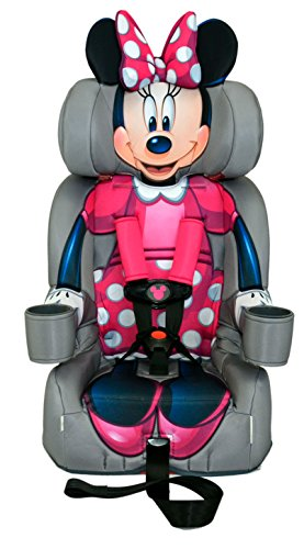 KidsEmbrace Minnie Mouse Booster Car Seat, Disney Combination Seat, 5 Point Harness, Pink, 3001MIN