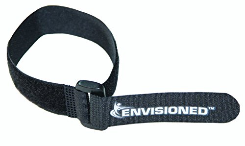 "Reusable Cinch Straps 1"" x 12"" - 12 Pack, Multipurpose Quality Hook and Loop Securing Straps - Plus 2 Free Bonus Reusable Cable Ties"