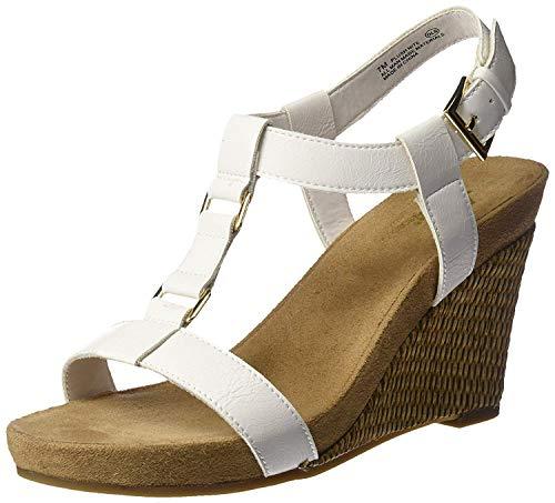 Aerosoles A2 Women's Plush Nite Wedge Sandal, White, 9 M US