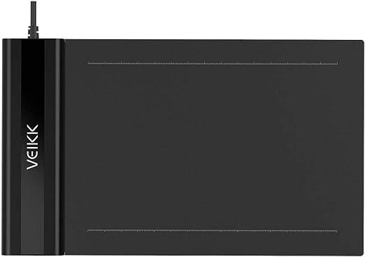 Tickas ペンタブレット、S640デジタルグラフィックス描画タブレット6 * 4インチペンタブレット(8192レベル)圧力パッシブペン5080 LPIワンタッチイレーサーハンドペイントタブレット