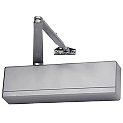 "Sargent 351 Series Sprayed Aluminum Enamel Heavy Duty Adjustable Through Bolt Door Closer with Universal Arm, 1-1/2"" Piston Diameter (Pack of 1)"